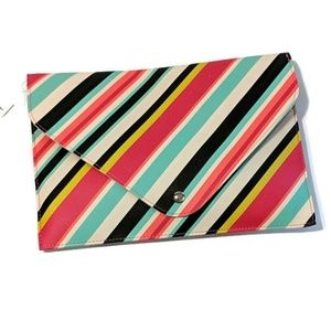 Colorplay Vertical Stripes Clutch Envelope Travel